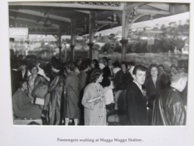 Passengers waiting at the Wagga Wagga Station