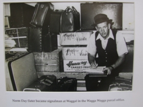 Norm Day in the Wagga Wagga parcel office